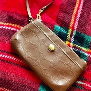 Coach Brown Leather Wristlet *NWOT*